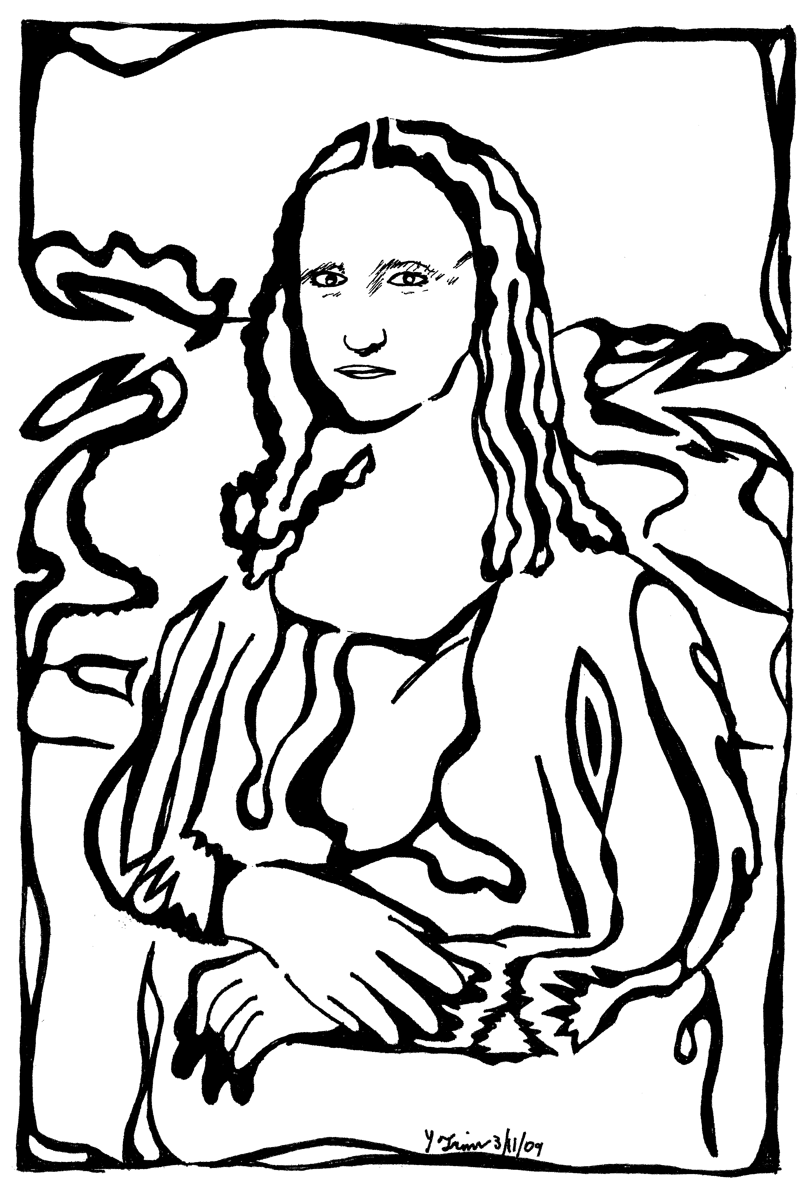 Mazes Mona Lisa Maze Artwork replica portrait