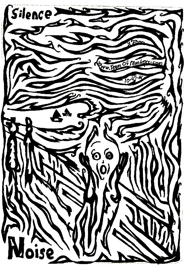 Maze cover for Edvard Munch, SCREAMAZING