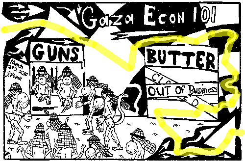 maze solution Editorial maze cartoon of gaza guns and butter