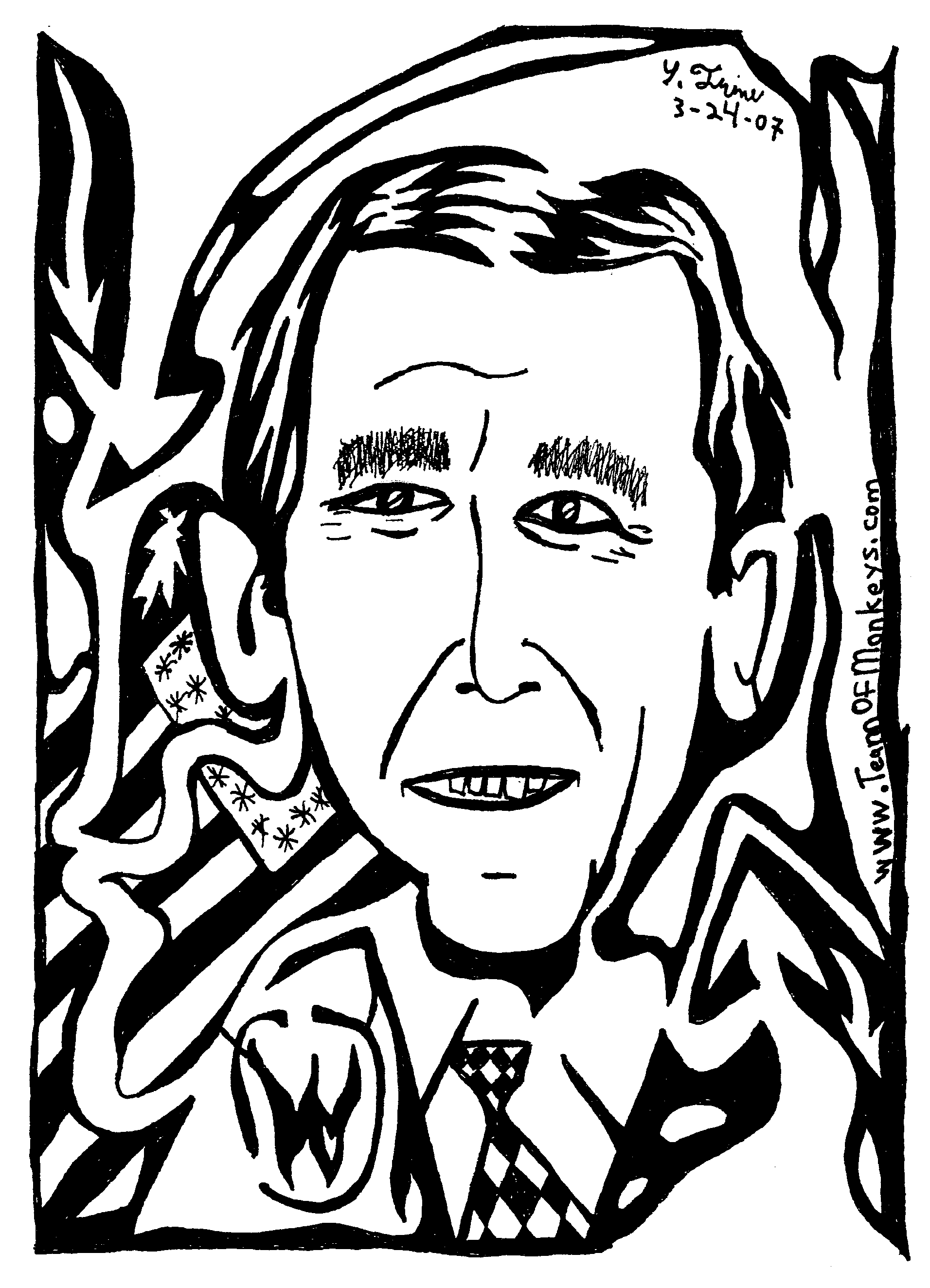 portrait maze George W Bush