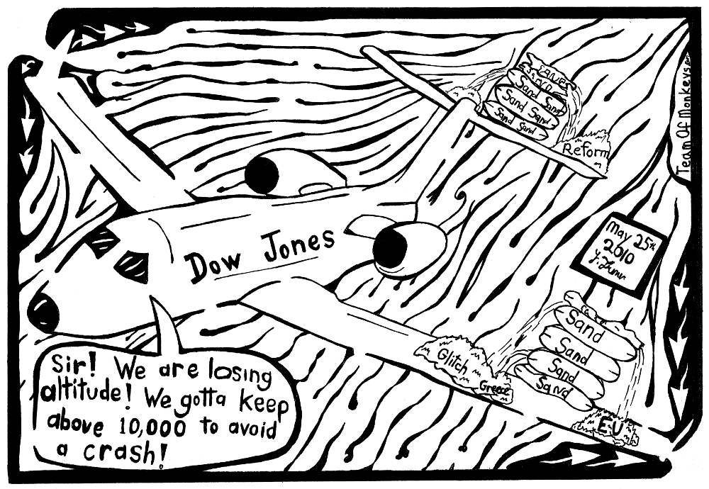 Dow Jones Airlines Maze Cartoon