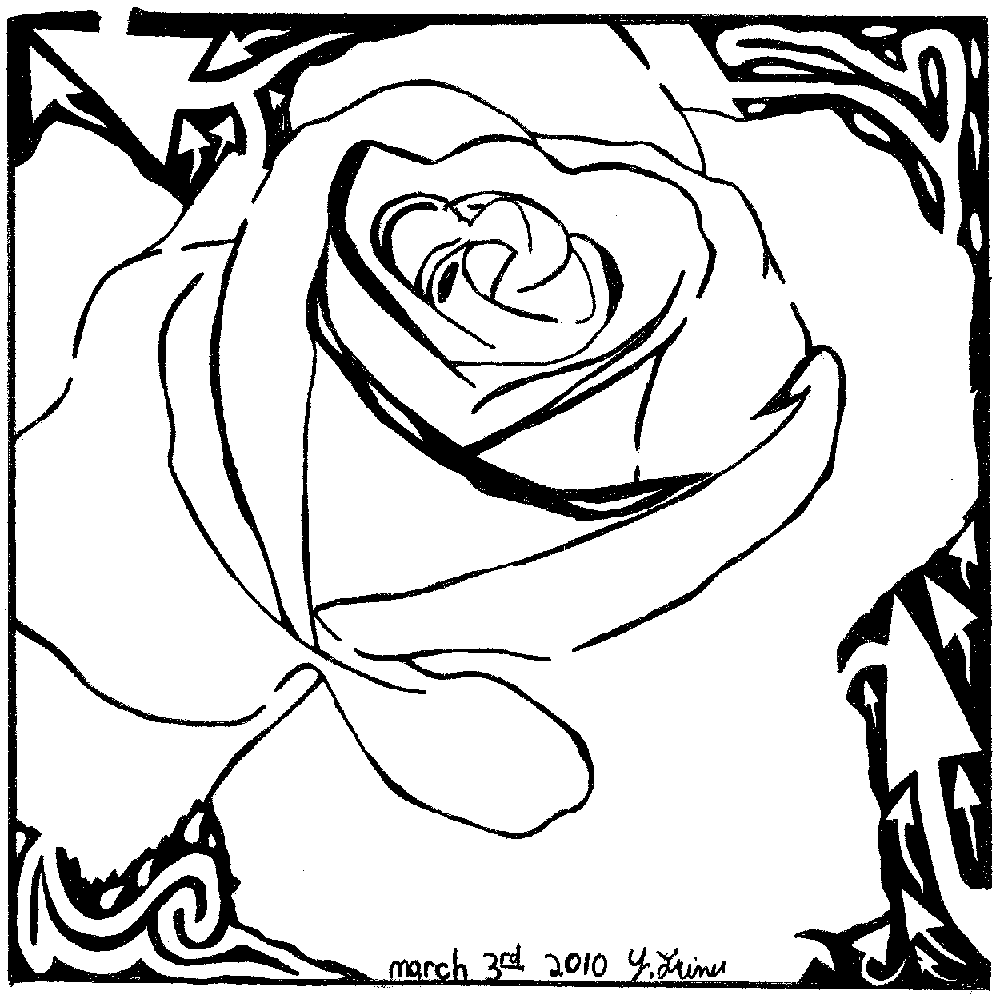 Maze of a rose