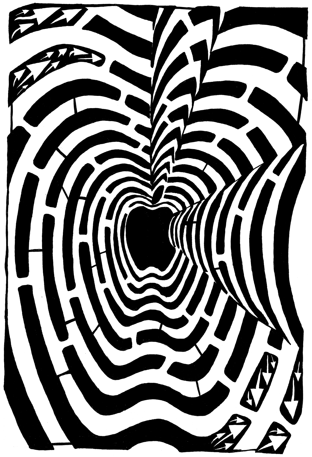 Maze of an Optical Illusion Maze by Yonatan Frimer