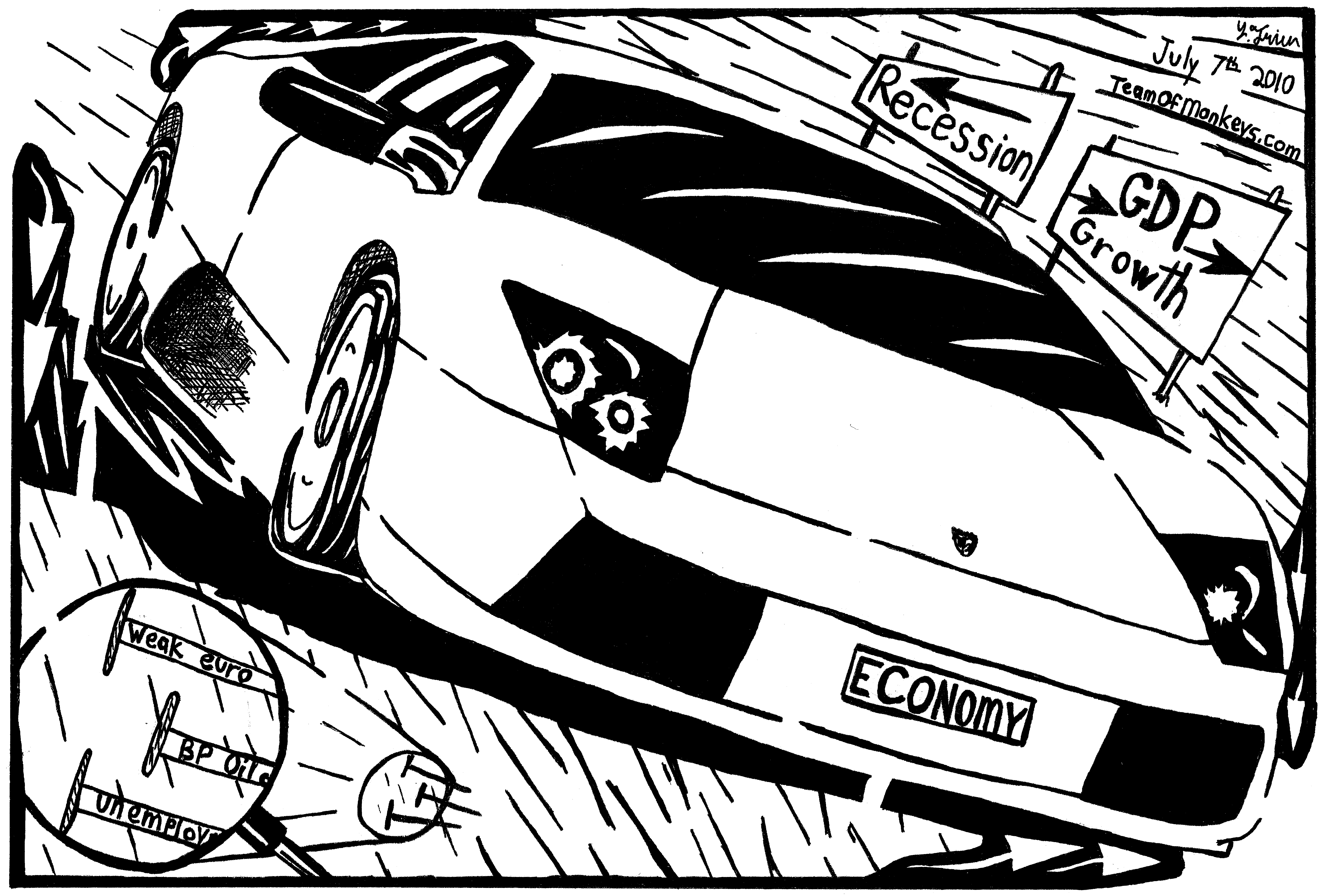 Lamborghini Maze Cartoon By Yonatan Frimer Car Races Down The