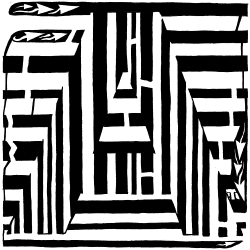 Letter A Maze