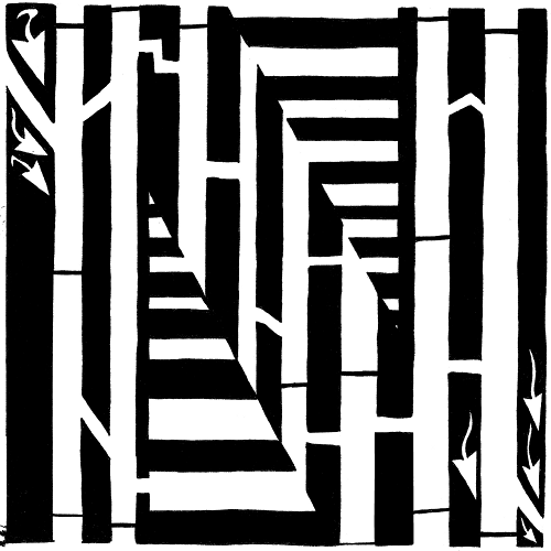 Letter N Optical illusion Learn To a MAze