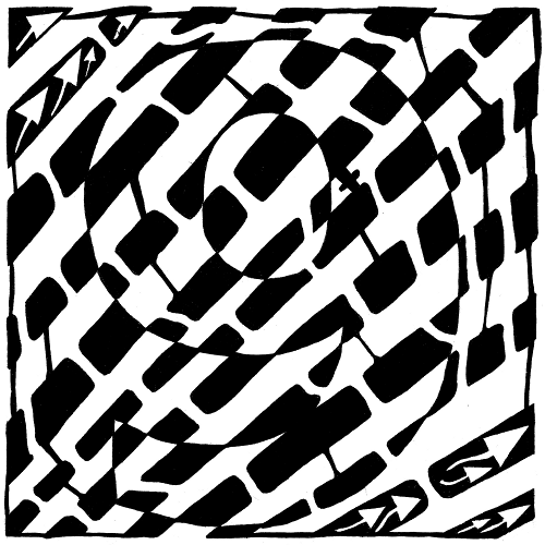 Maze by Yonatan Frimer of the number nine (9)