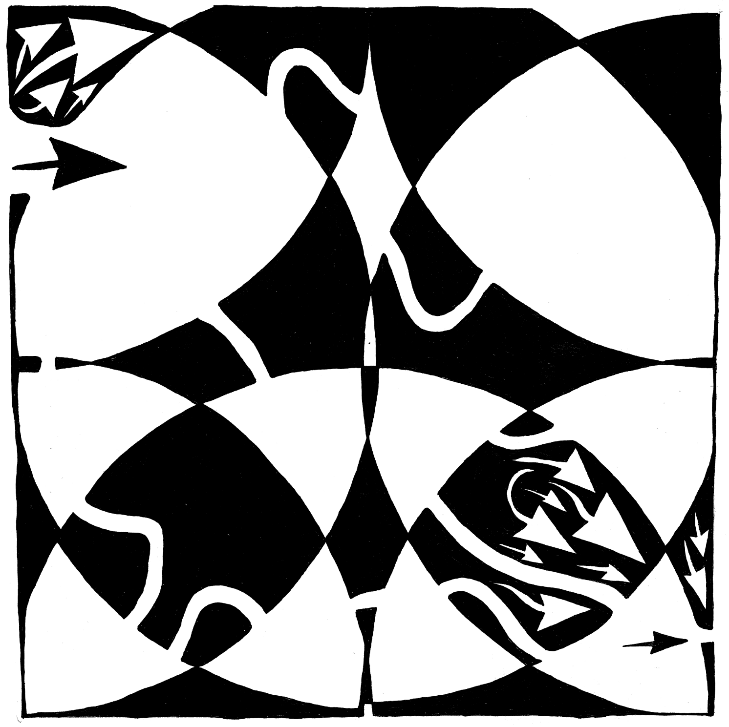 Rorschach maze art by Yonatan Frimer What do you see in this maze?