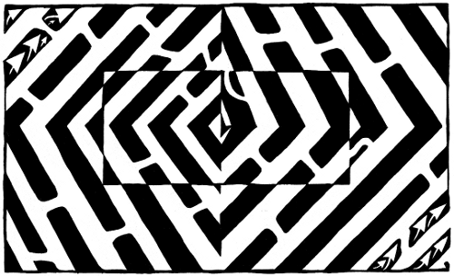 Yonatan Frimer Optical Illusion Maze
