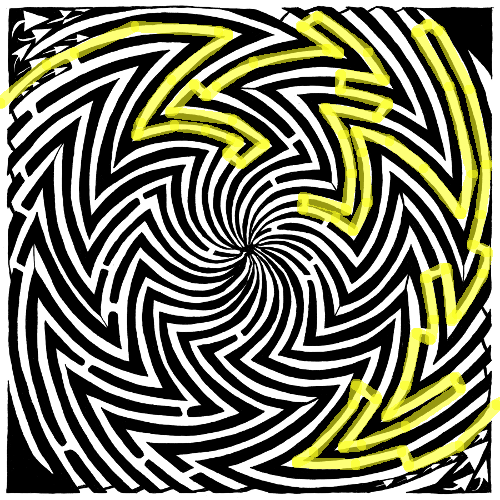 Optical Illusion Maze
