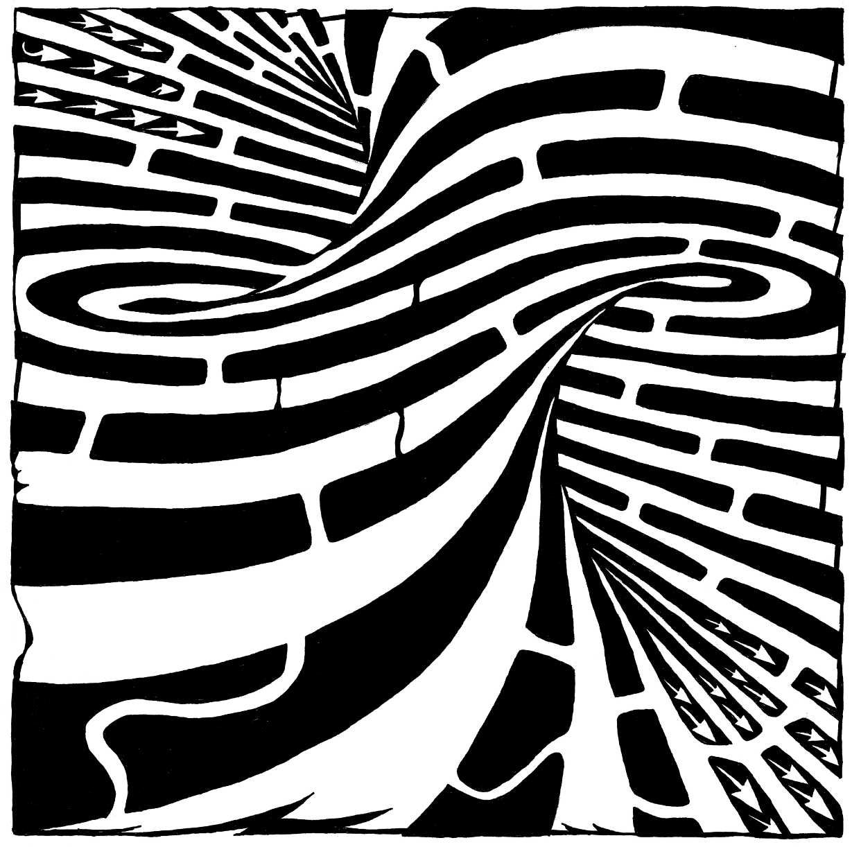 the twisted and warped maze by Yonatan Frimer