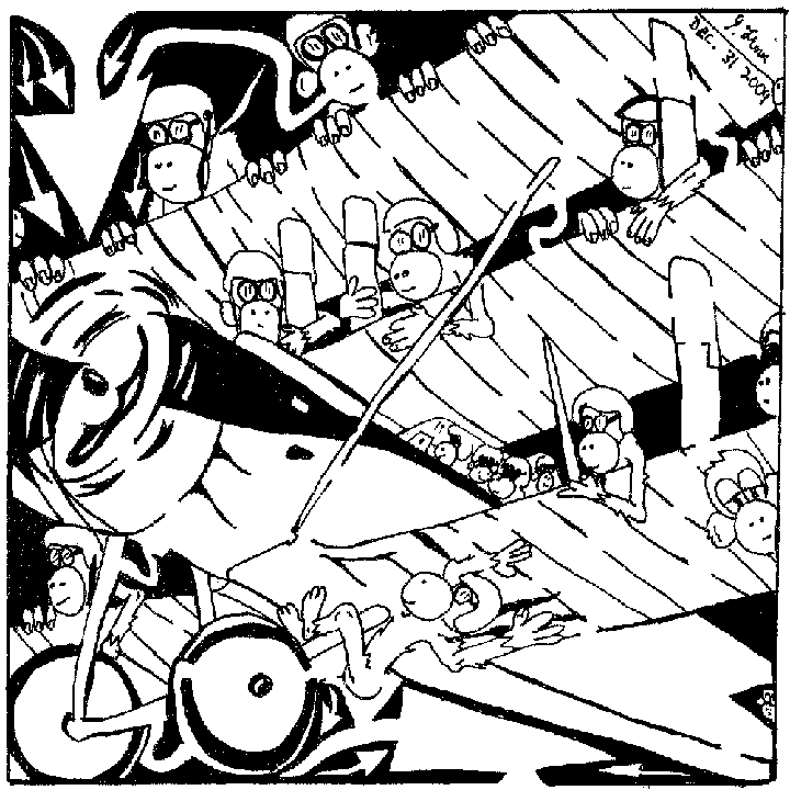 Maze of Team Of Monkeys Flying TriPlane By Yonatan Frimer