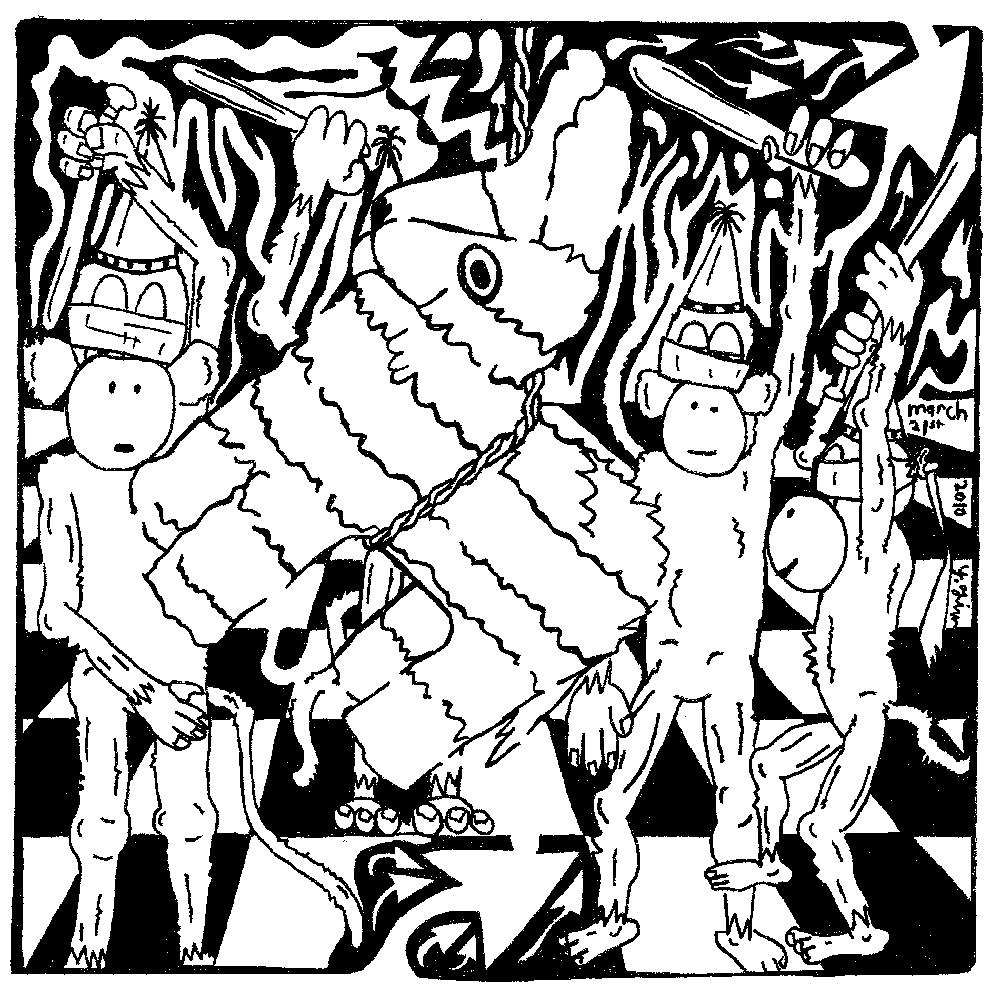 maze of pinata party monkeys