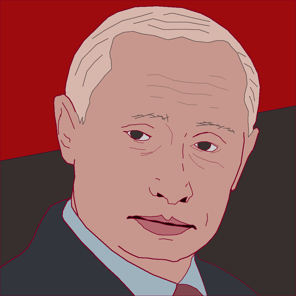 Vladamir Putin in the red, for mother Russia - true leader of Soviet Union