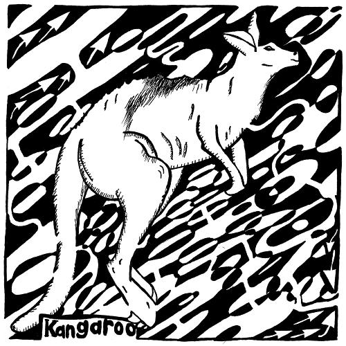 leaping kangaroo maze for the letter K maze