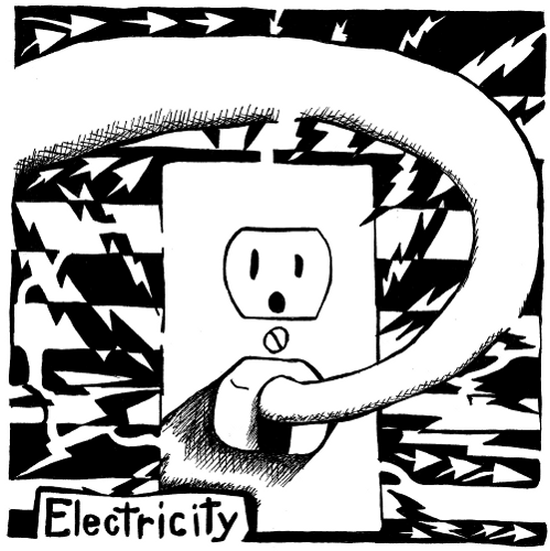 psychedelic electrical outlet maze