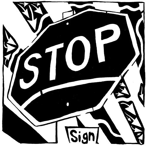 maze of octagonal stop sign