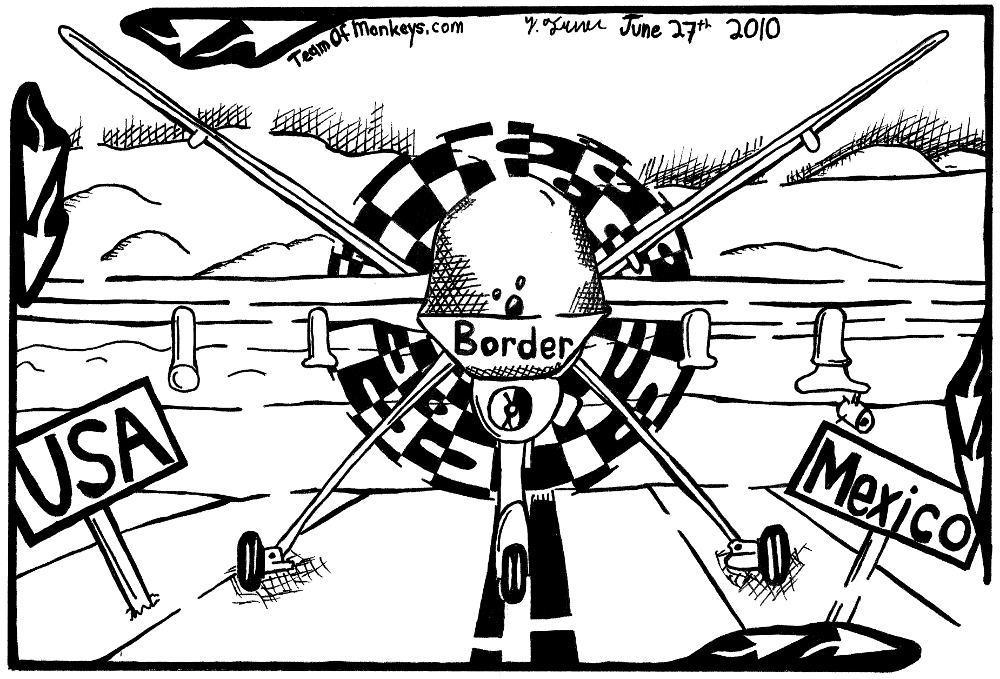 predator reaper drone border dispute mexico usa, fun, yonatan frimer