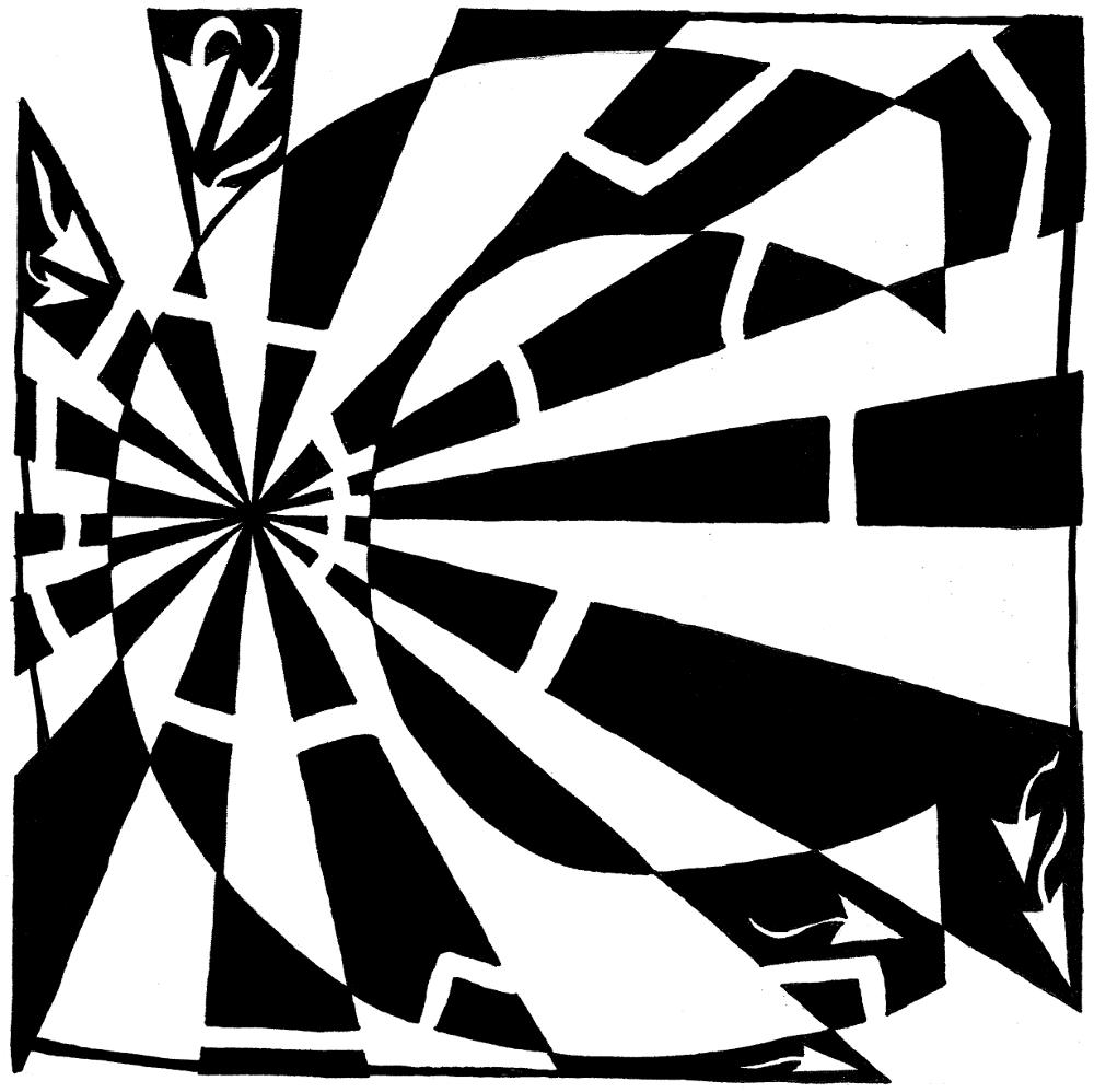 Yonatan Frimer maze of Uppercase C as in cat.