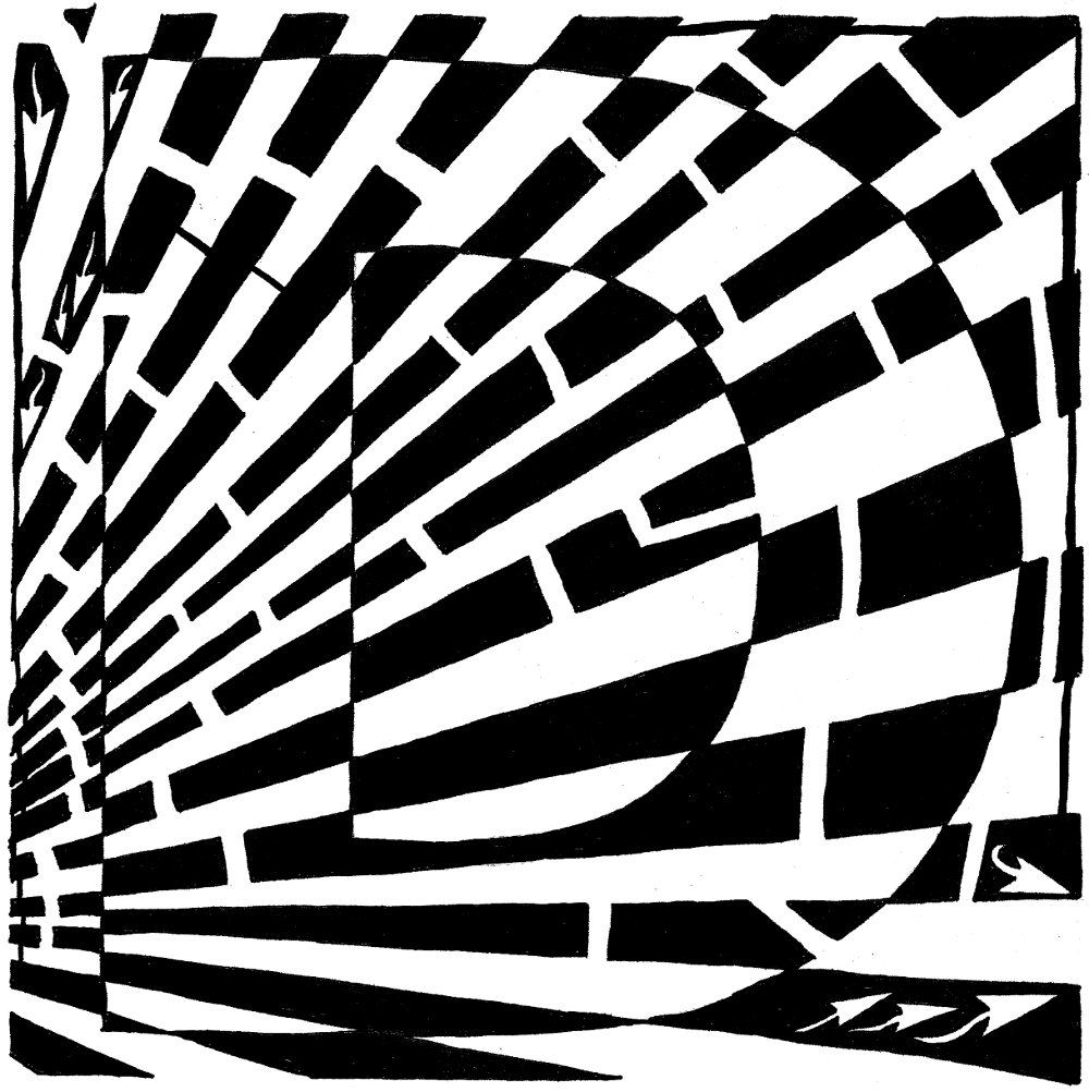 Maze of UpperCase D by Yonatan Frimer