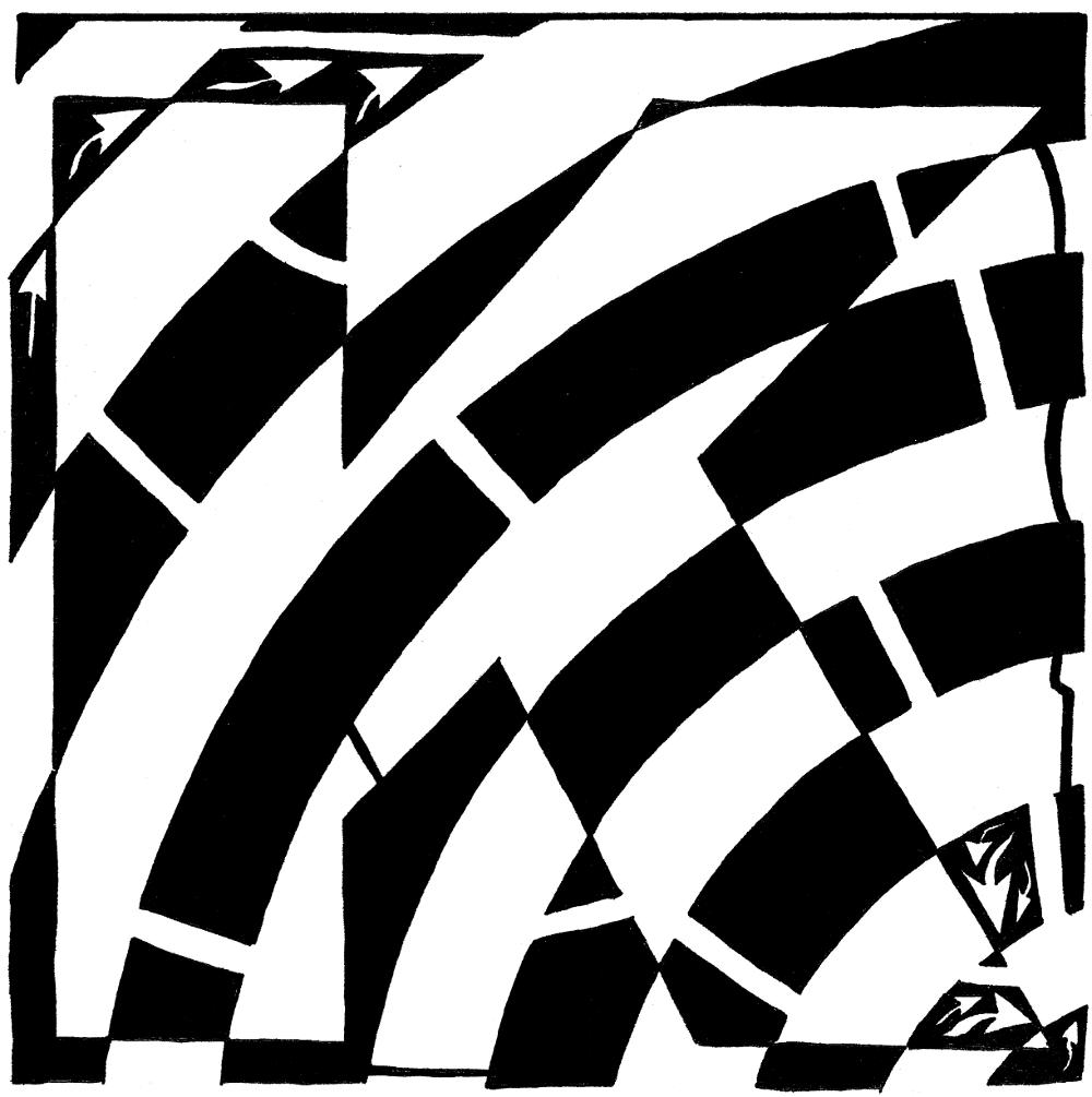 Maze of capital K - Yonatan Frimer Alphabet Maze