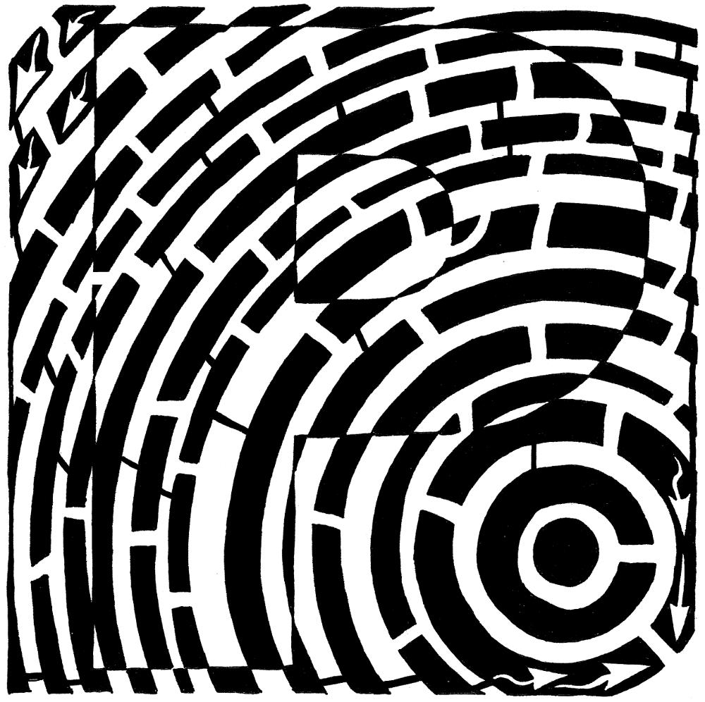 P Maze by Yonatan Frimer Maze Artist