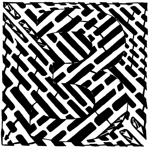 Maze by Yonatan Frimer of the number three (3)