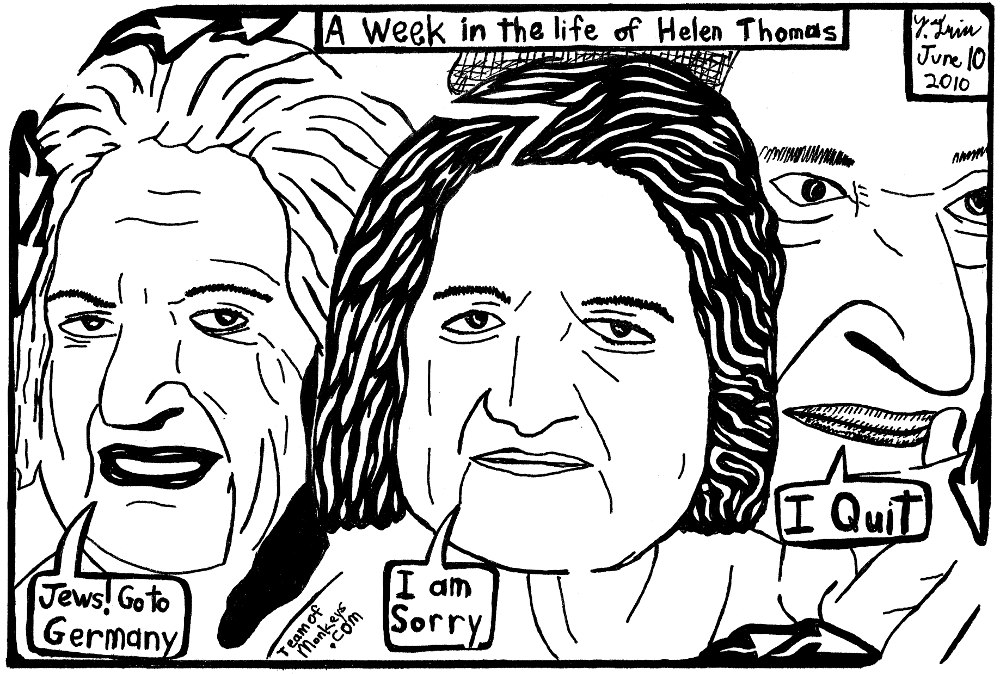 Week in the life of Helen Thomas cartoon maze