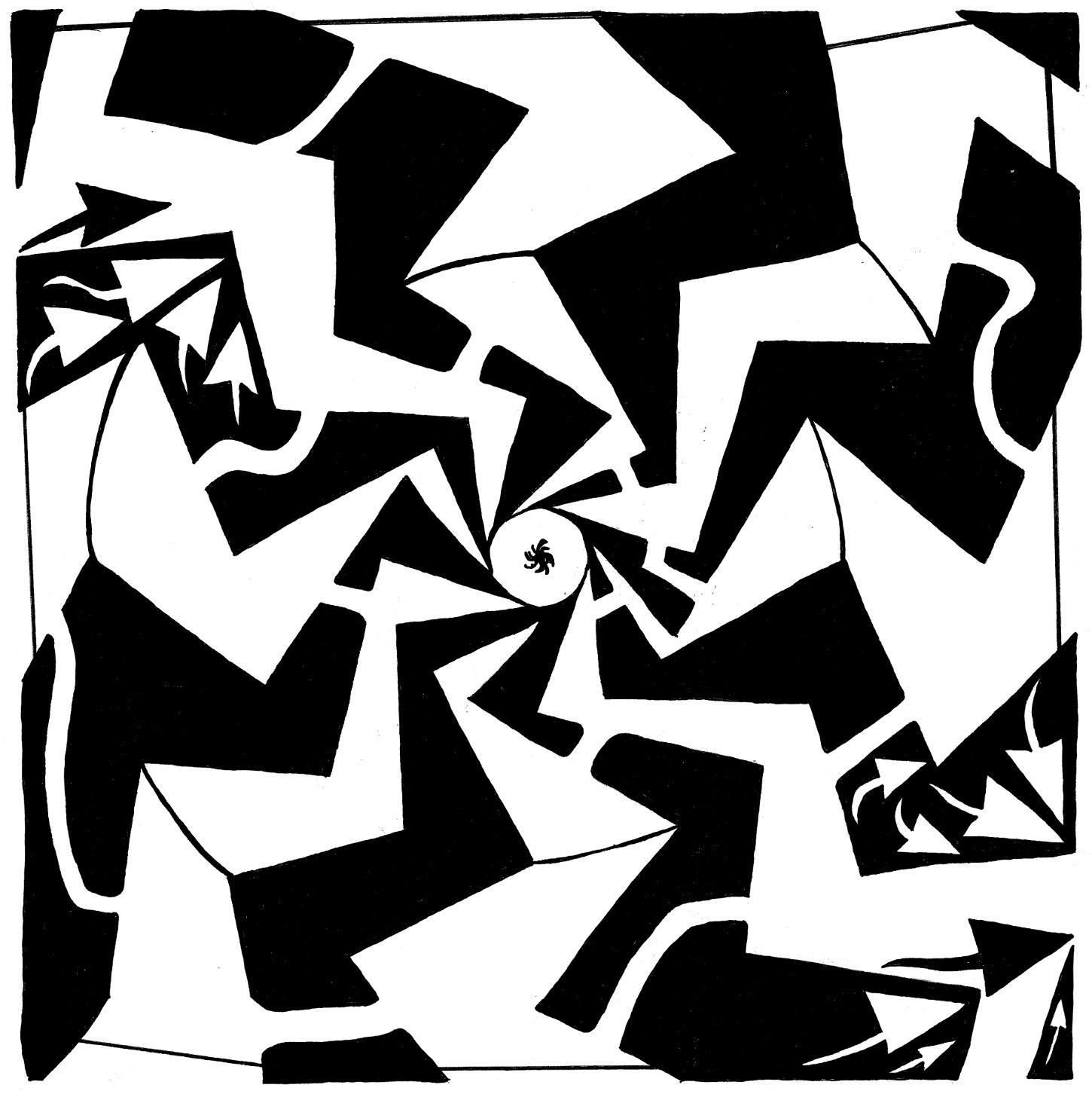 paparazzi maze art by Yonatan Frimer