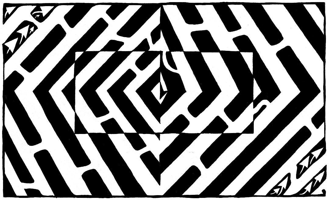 Yonatan Frimer Optical Illusion Maze