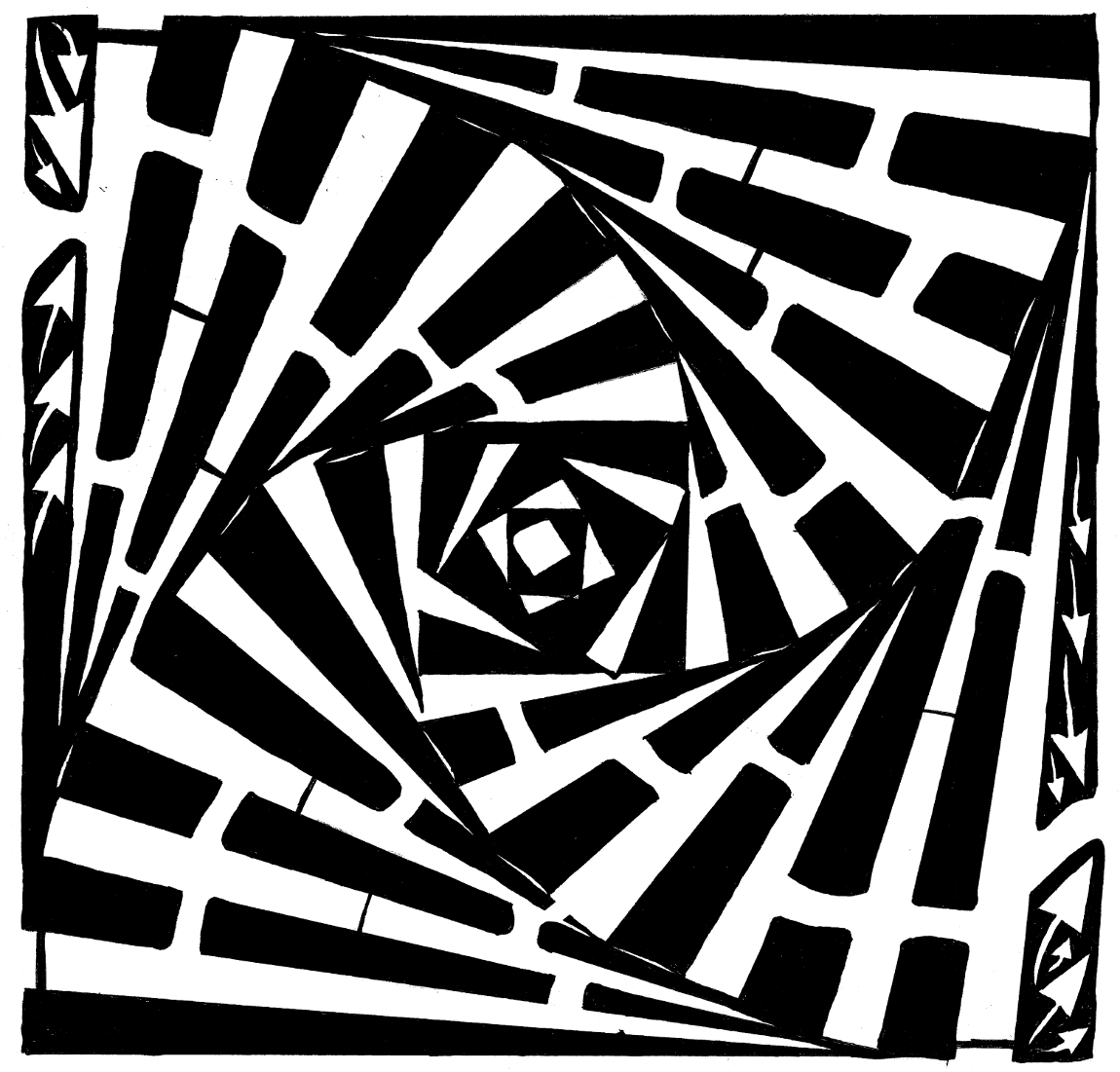 Stacked and Swirled Boxes Maze by Yonatan Frimer