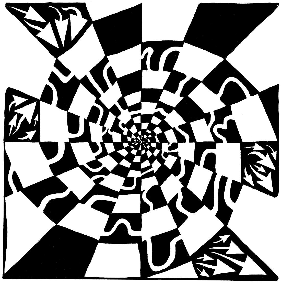 Spiral blender maze by Yonatan Frimer