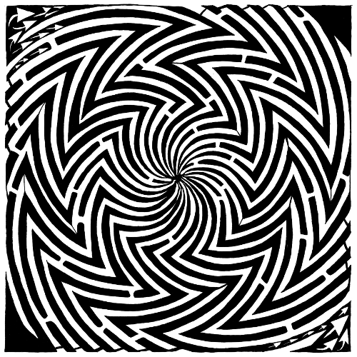 Optical Illusion Maze